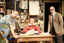 I AM SHAKESPEARE   conceived and written by Mark Rylance   devised by the company   directed by Mark Rylance & Matthew Warchus <br>,l-r: Sean Foley (Barry), Colin Hurley (William Shakespeare), Mark Ry...