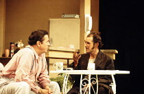 TRUE WEST   by Sam Shepard   director: Matthew Warchus <br>,l-r: David Henry (Saul Kimmer), Mark Rylance (Lee/Austin - alternated roles),Donmar Warehouse / London WC2            10/11/1994     ,
