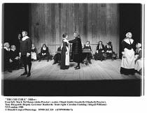 'THE CRUCIBLE' (Miller)~front left: Mark McManus (John Proctor)  centre: Dinah Stabb (Goodwife Elizabeth Proctor), ~Tony Haygarth (Deputy Governor Danforth)  front right: Caroline Embling (Abigail Wil...