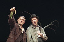 WAITING FOR GODOT  by Samuel Beckett   director: Peter Hall <br>,l-r: Ben Kingsley (Estragon), Alan Howard (Vladimir),Old Vic Theatre, London SE1                     27/06/1997,