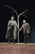 WAITING FOR GODOT  by Samuel Beckett   director: Peter Hall <br>,l-r: Alan Howard (Vladimir), Ben Kingsley (Estragon),Old Vic Theatre, London SE1                     27/06/1997,