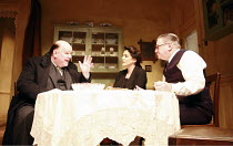 AWAKE AND SING!  by Clifford Odets  design: Tim Shortall  lighting: Paul Pyant  director: Michael Attenborough <br>  l-r: Trevor Cooper (Uncle Morty), Stockard Channing (Bessie Berger), Paul Jesson (...