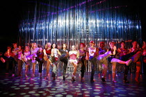 BAD GIRLS - THE MUSICAL   book: Maureen Chadwick & Ann McManus   music & lyrics: Kath Gotts   director: Maggie Norris <br>,centre, in black: Sally Dexter (Yvonne Atkins) ,West Yorkshire Playhouse prod...