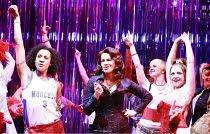 BAD GIRLS - THE MUSICAL   book: Maureen Chadwick & Ann McManus   music & lyrics: Kath Gotts   director: Maggie Norris <br>,centre: Sally Dexter (Yvonne Atkins)   ,West Yorkshire Playhouse production 2...