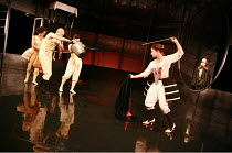 CASANOVA   by Carol Ann Duffy & Told by an Idiot   director: Paul Hunter <br>,bullfighting - l-r: Catherine Marmier, Richard Clews, Carolina Valdes, Hayley Carmichael (Casanova), (rear right) Johannes...