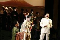 MADAMA BUTTERFLY   by Puccini   ,conductor: Wyn Davies   set design: Hildegard Bechtler   costume design: Ana Jebens   lighting design: Peter Mumford   director: Tim Albery <br>,l-r: Ann Taylor (Suzuk...