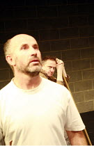 Fragments - ROUGH FOR THEATRE I   by Samuel Beckett   director: Peter Brook    l-r: Marcello Magni, Jos Houben  Theatre des Bouffes du Nord / Paris & The Young Vic / London co-production      The Y...