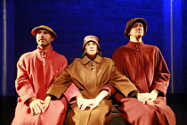 Fragments - COME AND GO   by Samuel Beckett   director: Peter Brook  ~l-r: Marcello Magni (Ru), Kathryn Hunter (Vi), Jos Houben (Flo)~Theatre des Bouffes du Nord / Paris & The Young Vic / London co-pr...
