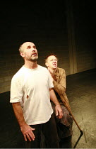 Fragments - ROUGH FOR THEATRE I   by Samuel Beckett   director: Peter Brook  ~l-r: Marcello Magni, Jos Houben ~Theatre des Bouffes du Nord / Paris & The Young Vic / London co-production     ~The Young...
