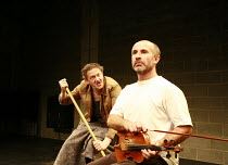 Fragments - ROUGH FOR THEATRE I   by Samuel Beckett   director: Peter Brook  ~l-r: Jos Houben, Marcello Magni ~Theatre des Bouffes du Nord / Paris & The Young Vic / London co-production     ~The Young...