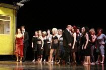 CARMEN   by Bizet   conductor: Edward Gardner   set design: Es Devlin   costume design: Catherine Zuber   lighting: Mimi Jordan Sherin   director: Sally Potter ,Act I - left: Alice Coote (Carmen), Jul...