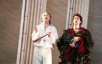 THE MAGIC FLUTE (Die Zauberflote)   by Mozart   conductor: Martin Andre   original director: Nicholas Hytner <br>,l-r: Andrew Kennedy (Tamino), Roderick Williams (Papageno),English National Opera (ENO...