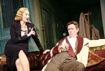 PRESENT LAUGHTER   by Noel Coward   director: Howard Davies <br>,Sara Stewart (Liz Essendine), Alex Jennings (Garry Essendine),Lyttelton Theatre / National Theatre (NT), London SE1    02/10/2007,