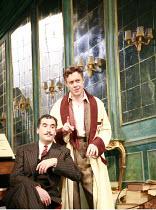 PRESENT LAUGHTER   by Noel Coward   director: Howard Davies <br>,l-r: Tim McMullan (Morris Dixon), Alex Jennings (Garry Essendine),Lyttelton Theatre / National Theatre (NT), London SE1    02/10/2007,