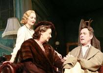 PRESENT LAUGHTER   by Noel Coward   director: Howard Davies <br>,l-r: Sara Stewart (Liz Essendine), Frances Jeater (Lady Saltburn), Alex Jennings (Garry Essendine),Lyttelton Theatre / National Theatre...