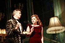 PRESENT LAUGHTER   by Noel Coward   director: Howard Davies ~Alex Jennings (Garry Essendine), Lisa Dillon (Joanna Lyppiatt)~Lyttelton Theatre / National Theatre (NT), London SE1    02/10/2007