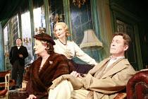 PRESENT LAUGHTER   by Noel Coward   director: Howard Davies <br>,front, l-r: Frances Jeater (Lady Saltburn), Sara Stewart (Liz Essendine), Alex Jennings (Garry Essendine),Lyttelton Theatre / National...