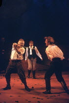 KING LEAR   by Shakespeare   director: Adrian Noble <br>,l-r: Simon Russell Beale (Edgar), Owen Teale (Edmund),Royal Shakespeare Company / Royal Shakespeare Theatre, Stratford-upon-Avon   18/05/1993,