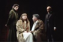 KING LEAR   by Shakespeare   design: Peter Hartwell   director: Max Stafford-Clark <br>,II/iv - l-r: Peter Hugo-Daly (Cornwall), Saskia Reeves (Regan), Tom Wilkinson (King Lear), Hugh Ross (Gloucester...
