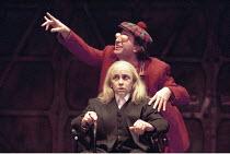KING LEAR   by Shakespeare   design: Pawel Dobrzycki   director: Helena Kaut-Howson <br> ,Kathryn Hunter (King Lear), Marcello Magni (Fool),Leicester Haymarket Theatre, Leicester   England        20/0...