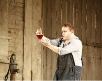 L^ELISIR D^AMORE   music: Gaetano Donizetti   libretto: Felice Romani   ,conductor: Enrique Mazzola   design: Lez Brotherston   director: Annabel Arden <br>,Peter Auty (Nemorino) with the elixir,Glynd...