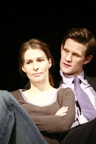 SWIMMING WITH SHARKS   by George Huang   director: Wilson Milam <br>,Helen Baxendale (Dawn Lockard), Matt Smith (Guy),Vaudeville Theatre, London WC2                    16/10/2007                    ,
