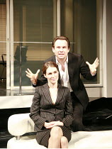 SWIMMING WITH SHARKS   by George Huang   director: Wilson Milam <br>,Helen Baxendale (Dawn Lockard), Christian Slater (Buddy Ackerman),Vaudeville Theatre, London WC2                    16/10/2007...