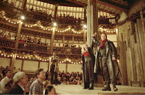 KING LEAR   by Shakespeare   director/Master of Play: Barry Kyle <br>,Felicity Dean (Regan), Michael Gould (Edmund) ,Shakespeare's Globe, London SE1              22/05/2001   ,