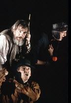 KING LEAR by Shakespeare  design: Hildegard Bechtler  lighting: Jean Kalman  director: Deborah Warner <br>~l-r: (top) Brian Cox (King Lear), Ian McKellen (Earl of Kent), David Bradley (Lear's Fool), ~...