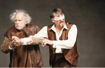 KING LEAR by Shakespeare  design: Hildegard Bechtler  lighting: Jean Kalman  director: Deborah Warner <br>~l-r: Sam Beazley (Old Man), Peter Jeffrey (Earl of Gloucester) ~Lyttelton Theatre, National T...