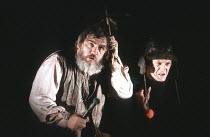 KING LEAR by Shakespeare  design: Hildegard Bechtler  lighting: Jean Kalman  director: Deborah Warner <br>~l-r: Brian Cox (King Lear), David Bradley (Lear's Fool) ~Lyttelton Theatre, National Theatre...