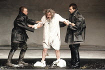 KING LEAR by Shakespeare  design: Hildegard Bechtler  lighting: Jean Kalman  director: Deborah Warner <br>~centre: Brian Cox (King Lear) ~Lyttelton Theatre, National Theatre (NT), London SE1  26/07/19...