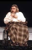KING LEAR by Shakespeare  design: Hildegard Bechtler  lighting: Jean Kalman  director: Deborah Warner <br>~in wheelchair: Brian Cox (King Lear) ~Lyttelton Theatre, National Theatre (NT), London SE1  2...
