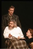 KING LEAR by Shakespeare  design: Hildegard Bechtler  lighting: Jean Kalman  director: Deborah Warner <br>~Brian Cox (King Lear), Eve Matheson (Cordelia) ~Lyttelton Theatre, National Theatre (NT), Lon...