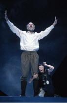 KING LEAR   by Shakespeare   director: Nicholas Hytner <br>,John Wood (Lear), Linda Kerr Scott (Lear^s Fool),Royal Shakespeare Company (RSC) / Royal Shakespeare Theatre     Stratford-upon-Avon     11/...