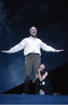 KING LEAR   by Shakespeare   director: Nicholas Hytner <br>,John Wood (Lear), Linda Kerr Scott (Lear^s Fool),Royal Shakespeare Company (RSC) / Royal Shakespeare Theatre     Stratford-upon-Avon   11/07...