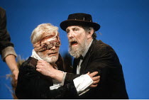 KING LEAR   by Shakespeare   director: Nicholas Hytner ,l-r: Norman Rodway (Earl of Gloucester), John Wood (Lear),Royal Shakespeare Company (RSC) / Barbican Theatre, London EC2        01/05/1991...