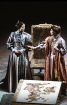 KING LEAR   by Shakespeare   design: Bob Crowley   director: Adrian Noble <br>,l-r: Jenny Agutter (Regan), Sara Kestelman (Goneril),Royal Shakespeare Company (RSC) / Royal Shakespeare Theatre     Stra...