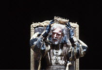 KING LEAR   by Shakespeare   design: Bob Crowley   director: Adrian Noble <br>,I/i: Michael Gambon (King Lear),Royal Shakespeare Company (RSC) / Barbican Theatre, London EC2       31/05/1983...