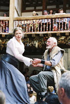 KING LEAR   by Shakespeare   director/Master of Play: Barry Kyle <br>,Felicity Dean (Regan), Julian Glover (Lear)   ,Shakespeare's Globe, London SE1               22/05/2001   ,