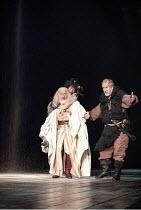 KING LEAR  by Shakespeare  set design: Yukio Horio  costumes: Lily Komine  lighting: Tamotsu Harada  fights: Masahiro Kunii  movement: Suketaro Hanayagi  director: Yukio Ninagawa <br>~l-r: Nigel Hawth...