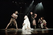 KING LEAR  by Shakespeare  set design: Yukio Horio  costumes: Lily Komine  lighting: Tamotsu Harada  fights: Masahiro Kunii  movement: Suketaro Hanayagi  director: Yukio Ninagawa <br>~l-r: Michael Mal...