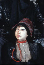 KING LEAR   by Shakespeare   design: Ellen Cairns   director: Yvonne Brewster <br>,Mona Hammond (Lear's Fool),Talawa Theatre Company / Cochrane Theatre, London WC1                         18/03/1994,
