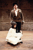 KING LEAR   by Shakespeare   director: Deborah Warner <br>,Robert Demeger (Lear), Hilary Townley (Lear^s Fool),Kick Theatre Company / Almeida Theatre, London N1           20/11/1985,