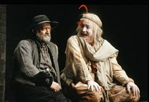 KING LEAR   by Shakespeare   design: Richard Hudson   director: Jonathan Miller <br>,Ian Hogg (Earl of Kent), Peter Bayliss (Lear^s Fool),The Old Vic, London SE1        28/03/1989,