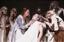 KING LEAR   by Shakespeare   directed by the company<br>,Margret Biereye (Cordelia), Dave Johnston (Lear),Footsbarn Travelling Theatre Company / London International Mime Festival / Shaw Theatre, Lond...