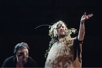KING LEAR   by Shakespeare   design: Chris Dyer   director: Cicely Berry <br>,l-r: Desmond Barrit (Earl of Gloucester), Richard Haddon Haines (Lear),Royal Shakespeare Company (RSC) / Almeida Theatre,...