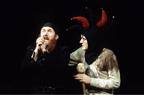 KING LEAR   by Shakespeare   director: Neil Sissons <br>,l-r: Nick Chadwin (Lear), xxx (Fool),Compass Theatre Company / Lilian Baylis Theatre / Sadlers Wells, London   10/12/1992,