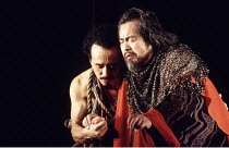 THE TALE OF LEAR   after Shakespeare   designed & directed by Tadeshi Suzuki <br>,l-r: Masaharu Kato (Edgar), Kosuke Tsutamori (Gloucester),Suzuki Company of Toga / Barbican Theatre, London EC2    09/...