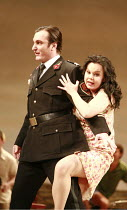 L^ELISIR D^AMORE   by Donizetti   conductor: Mikko Franck   director: Laurent Pelly <br>,Ludovic Tezier (Belcore), Aleksandra Kurzak (Adina)  ,The Royal Opera (RO) / Covent Garden   London WC2    13/1...